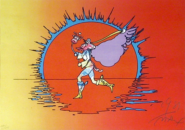 Peter Max S/N Serigraph Print, If Series: