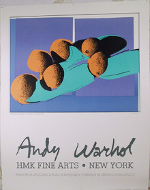 Andy Warhol Vintage Poster, Cantaloupes