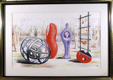 Henry Moore Lithograph 1949, Sculpture