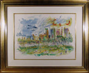 Wayne Ensrud Watercolor Painting, Central Park