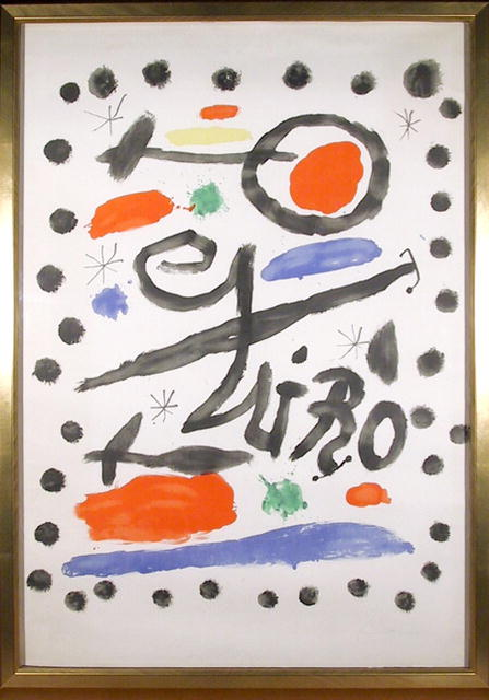 Joan Miro Signed Lithograph, Exhibition Sala