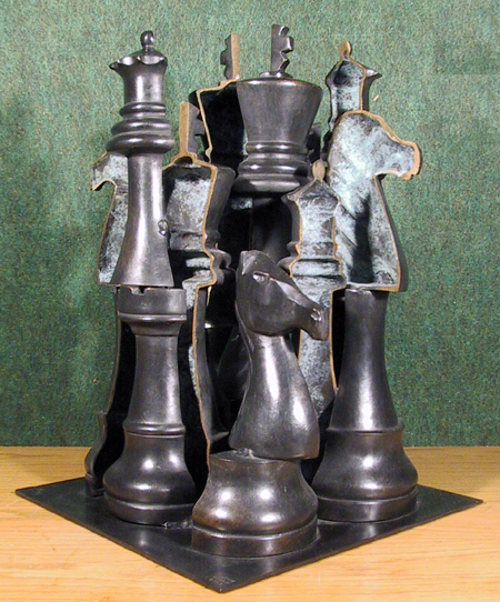 Arman Bronze Chess Sculpture, Signed & Numbered