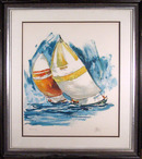 Wayland Moore S/N Serigraph, Sailing