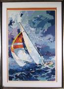 Wayland Moore S/N Framed Serigraph, Sailing