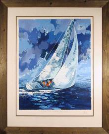 Wayland Moore S/N Lithograph, Sailing