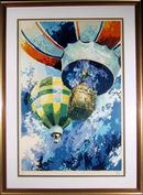 Wayland Moore S/N Serigraph, Hot Air Balloons
