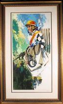 Wayland Moore S/N Serigraph, Jockey