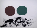 Adolph Gottlieb Silkscreen, Germination 1967