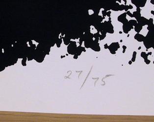 Adolph Gottlieb Silkscreen, Germination 1967