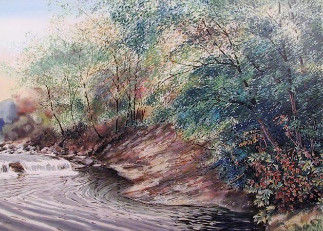 Emily James S/N Lithograph, Madison Creek II