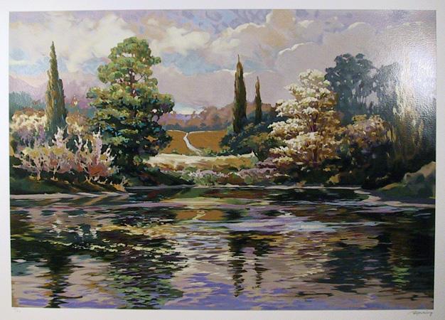 Elizabeth Horning S/N Serigraph, Landscape