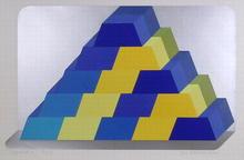 Joe Tilson S/N Serigraph, Ziggurat 6
