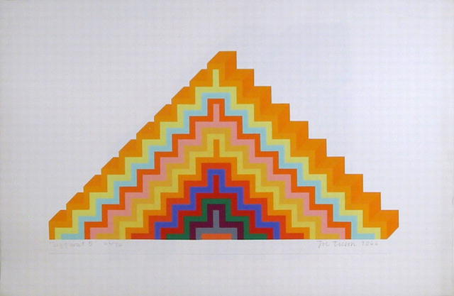 Joe Tilson S/N Serigraph, Ziggurat 5
