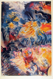 Isaac Abrams S/N Lithograph, Fire & Ice
