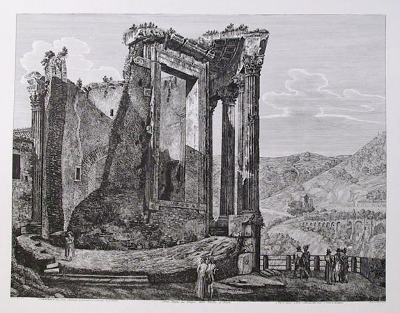 Rossini 1957 Etching, Altra Veduta del Tempio