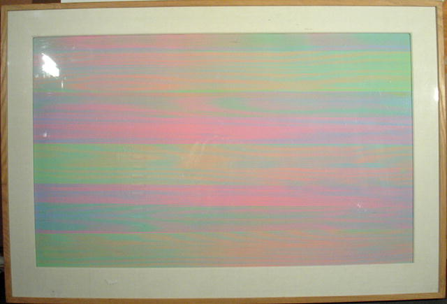 Stephen Auger OP Art Painting, Chromatic
