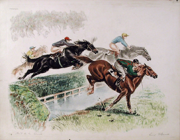 Louis Claude Etching, Dela, Equestrian