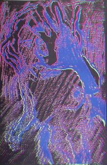 Lloyd Fertig Signed Silkscreen print, Nude