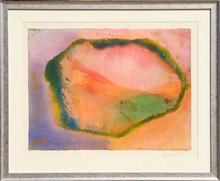 Jeff Hoare Watercolor Painting, Abstract, Wave