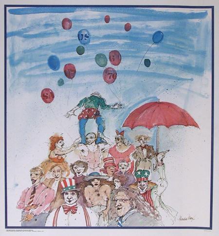 Marcia Marx Print, New School Celebrates Fellini