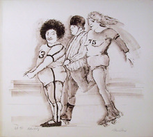 Marcia Marx S/N Lithograph, Roller Derby