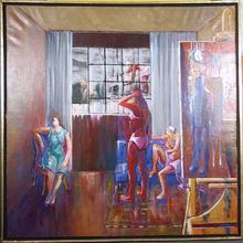 Benjamin Silva Acrylic Painting, Studio