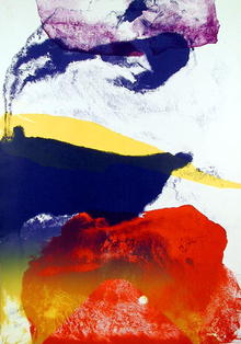 Paul Jenkins S/N Lithograph, Abstract