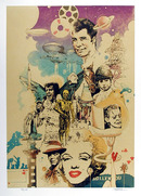 Harpaz Signed Lithograph, Hollywood