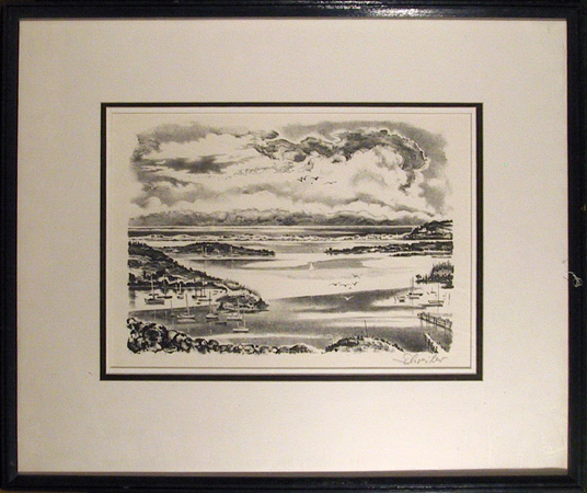 Georges Schreiber Signed Lithograph, Clam Point