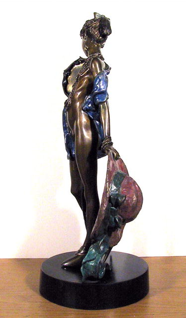 R. Shiloh Bronze Sculpture, Girl holding a