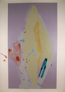 Daryl Hughto Abstract Silkscreen w/ Acrylic Pai