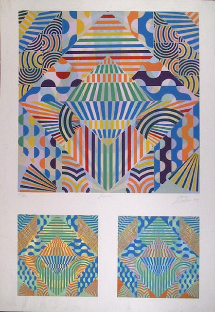 Perez Melero Silkscreen, OP Art, Barro
