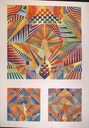 Perez Melero S/N Silkscreen, Optical Art, Ship