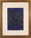 Jean Messagier Framed Lithograph, c. 1965,