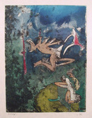 Roberto Matta S/N Etching, Centre Neouds