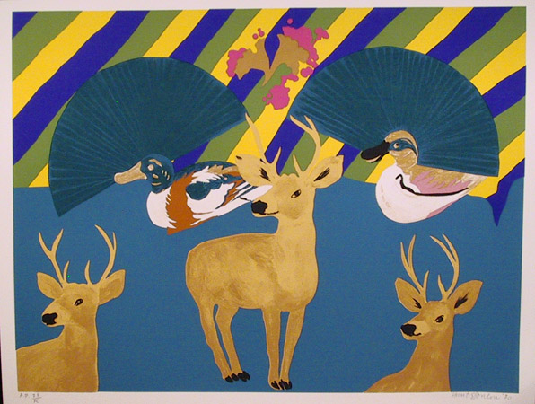 Hunt Slonem S/N Serigraph, Ducks, Deer