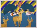 Hunt Slonem S/N Serigraph, Ducks, Deer