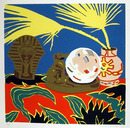 Hunt Slonem S/N Serigraph, Crystal Ball