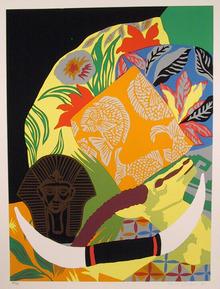 Hunt Slonem S/N Serigraph Print, Still Life