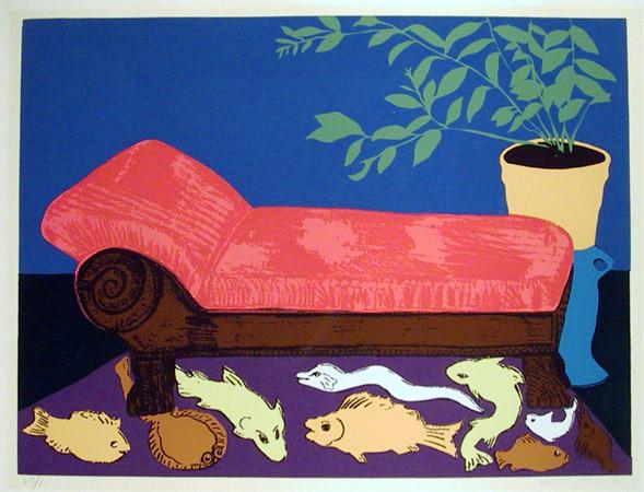 Hunt Slonem S/N Serigraph Print, 1980