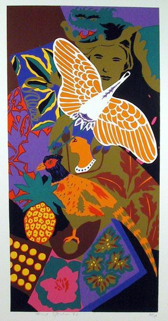 Hunt Slonem S/N Serigraph Print, Kite