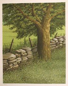 Helen Rundell S/N Lithograph, Tree