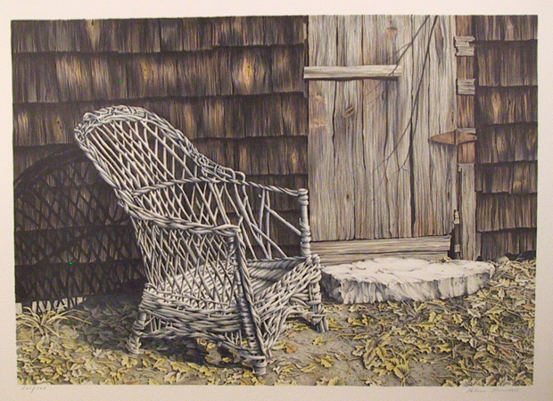 Helen Rundell S/N Lithograph, Chair