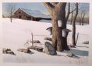 Helen Rundell S/N Lithograph, Winter Landscape
