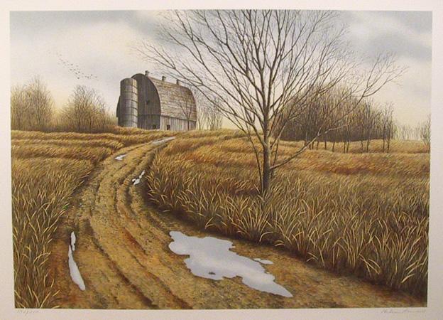 Helen Rundell S/N Lithograph, Landscape