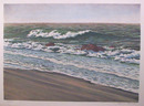 Helen Rundell Lithograph, Beach, Seascape