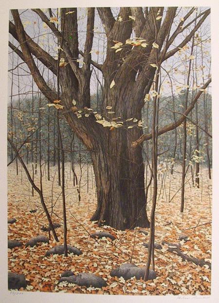 Helen Rundell S/N Lithograph, Fall Landscape