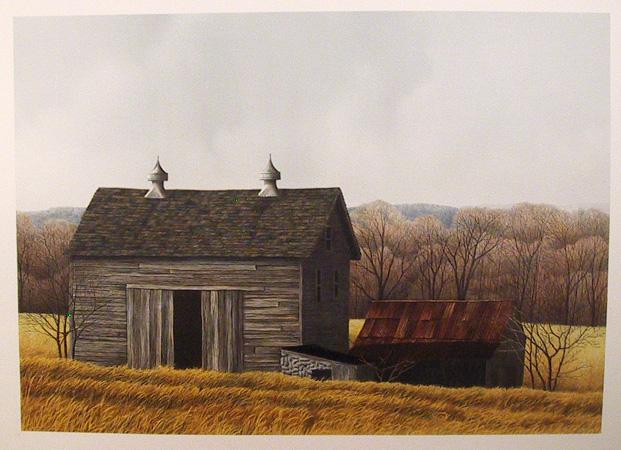 Helen Rundell S/N Lithograph, Beaver Pond Barn