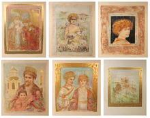 Edna Hibel Six Lithographs, David Suite