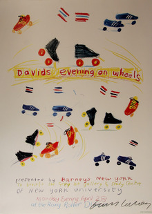 David Hockney Signed Poster New York University